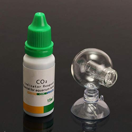 Aquarium Carbon Dioxide CO2 Monitor PH Indicator Glas Drop Ball Checker Tester