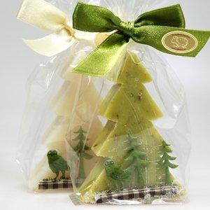 Lait de brebis Savon coton Classic/Verveine 75 g Ruban décoratif Forêt, dans Violoncelle