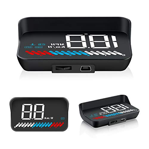 Car Head Up Display, Car Truck OBD2 HUD GPS Speedometer, iKiKin M7 Dual Mode Windshield Projector Car HUD Display for All Cars and Trucks