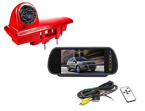Vision de Nuit la Vue arrière imperméables IR Renforts troisième Frein lumière caméra pour 2014 Opel vivaro / 2014 Renault trafic + 7 Pouces HD inverser rétroviseur surveiller