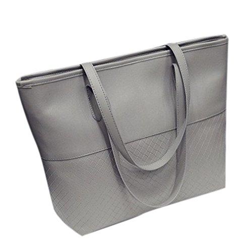 Handtasche Damenhandtaschen Ronamick Frauen Handytasche Schultertasche Satchel große Umhängetasche Tasche Henkeltasche Umhängetasche Schultertasche (Grau)