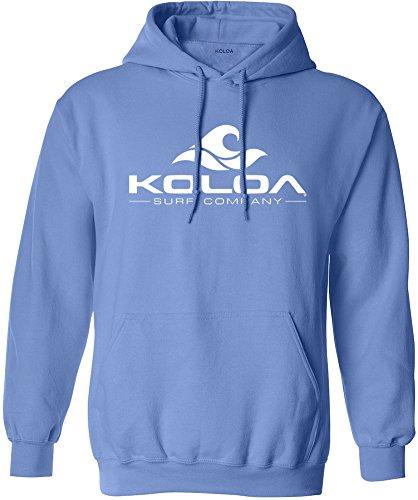Koloa Surf Wave Logo Hoodies - Hooded Sweatshirt, S-Carolina Blue/w Blue Classic Logo Hoody Sweatshirt