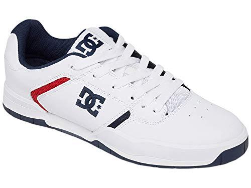 DC Herren Central Skate Schuh, Wei (Weiß/Weiß/Blau), 42 EU