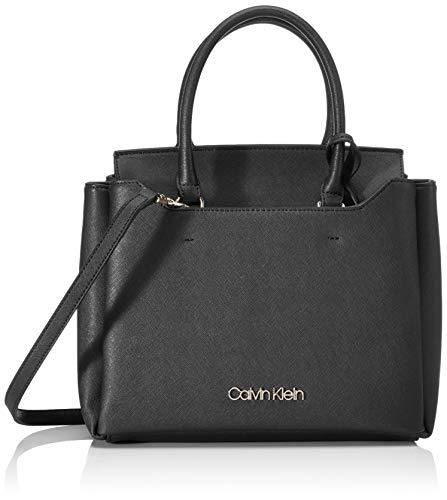 Calvin Klein Damen Worked Sml Tote, Schwarz (Black), 12x24x28 centimeters