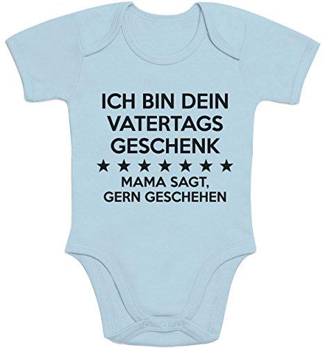 Shirtgeil Ich Bin Dein Vatertagsgeschenk Mama SAGT Gern Geschehen Baby Kurzarm Body 12-18 Monate Hellblau
