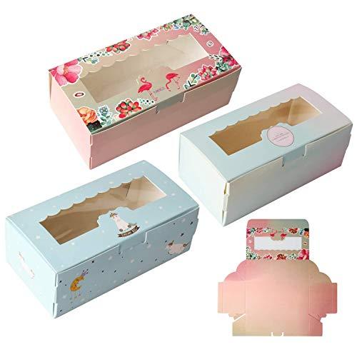 Clyhon 12 Stück, DREI Geschenkboxen, verwendet für Kekse, Kuchen, Gebäck, Verpackungen, Geschenkboxen, Backwaren, Containersets.