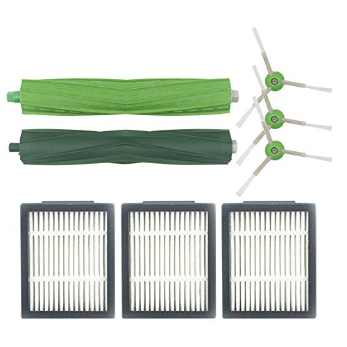 Festnight borstelaccessoires-kit compatibel met I-Robot 7 stofzuiger veegmachine reserveaccessoires (3 x zijborstel + 3 x filternet + hoofdborstel) voor huishoudelijk schoonmaken