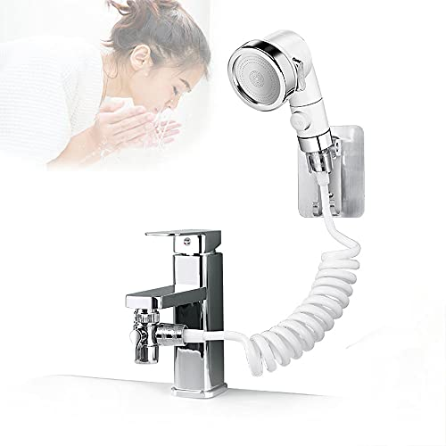 Juego de ducha para lavabo Ducha multifuncional Ducha de mano Filtro de grifo Adecuado para lavabo o lavabo limpio Rosca interior 23-24mm Rosca exterior 22mm