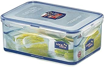 LOCK & LOCK HPL825 Classic Stackable Airtight Rectangle Food Container, 2.3L,Blue