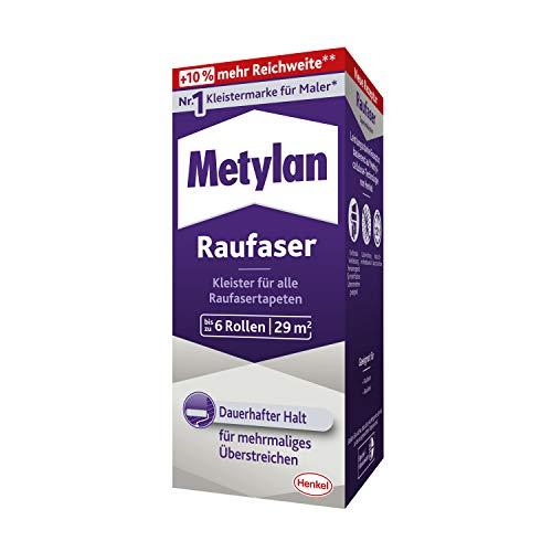 Metylan Raufaser, starker Tapetenkleister für Raufasertapete mit hoher Anfangsklebkraft, langlebiger & korrigierbarer Kleister mit Methylcellulose, 1x180g