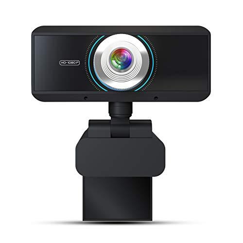 Webcam 1080, 30FPS Full HD Streaming Video Anker USB Web Camera Ingebouwde Stereo Microfoon met Statief voor PC Computer