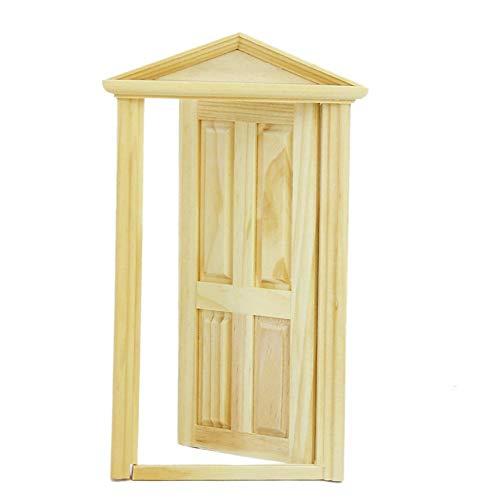 TrifyCore 9x17.5cm Accesorios de Puertas de Madera casa de muñecas Muebles de Bricolaje en Miniatura