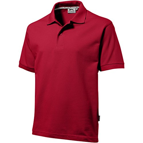 Slazenger - Polo - - Col boutonné Homme Rouge Red - Dunkelrot