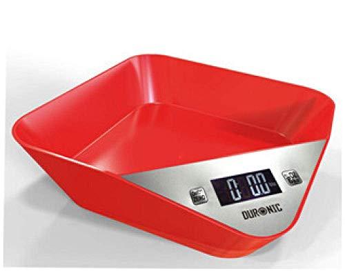 QAWSED Báscula Para Alimentos De Cocina Báscula Para Mascotas 5000G Báscula Para Alimentos Báscula Para Harina Báscula Para Hornear Rojo