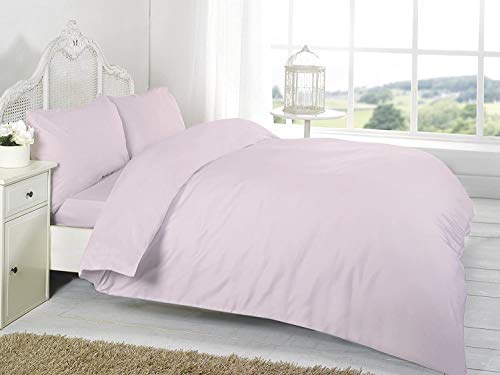 Marilyn Bed & Bath 100% Egyptian Cotton T200 Quilt Duvet Cover Set with Pillow Cases (Pink, King)