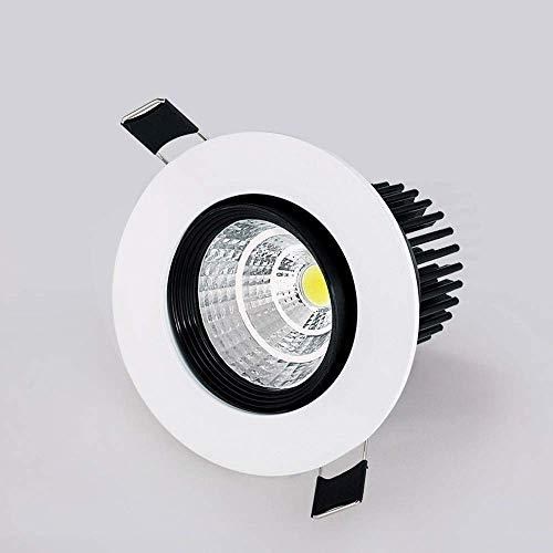 WEM Pozo Tamaño 70Mm-80Mm Embedded Spotlight Integrado 5W / 7W 110V 220V Inicio Downlight Ahuecado Antideslumbrante Alto Brillo Del Panel de Techo Led Luces Clásico de Aluminio Europen Moda Decorativ