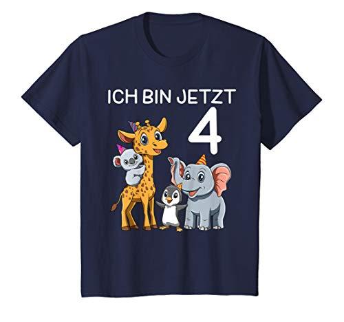 Kinder Süße Kinder & Zoo 4 Geburtstagsfeier - 4 Jahre alt Geschenk T-Shirt