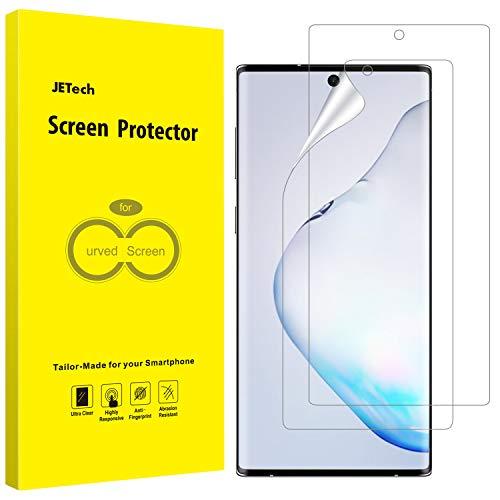 JETech Pellicola Protettiva Compatibile con Samsung Galaxy Note 10+ / Note 10 Plus 5G, Film TPU Flessibile HD Chiaro, Compatibile con la Custodia, Pacco da 2
