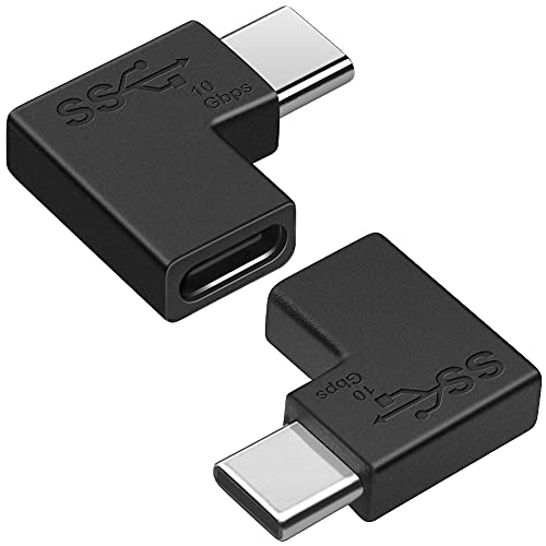 Adaptador USB C en ángulo de 90 Grados (Paquete de 2), Seminer Adaptador USB C 3.1 Adaptador de Transferencia de Datos de expansión Compatible con MacBook, Dispositivos USB-C
