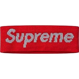 シュプリーム ニューエラ Supreme x NEW ERA REFLECTIVE LOGO HEADBAND ロゴ ヘアバンド ヘッドバンド (RED)
