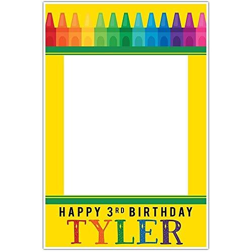Crayon Box Birthday Selfie Frame Poster