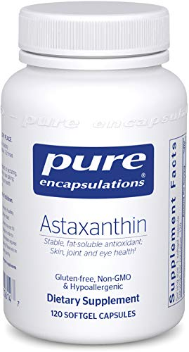 Pure Encapsulations Astaxanthin | Antioxidant Supplement for Joints, Skin and Eye Health, and Free Radicals* | 120 Softgel Capsules