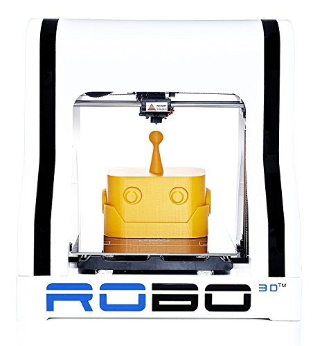 "Robo R1+ ABS/PLA Assembled 3D Printer, Big Build Volume 8""x9""x10"" for Educators and..."