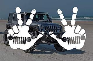 sticker compatible with Jeep Rubicon Unlimited sport YJ TJ JK JK JL JLU MULTI-COLOR 15-22 Punisher Skull hood decal
