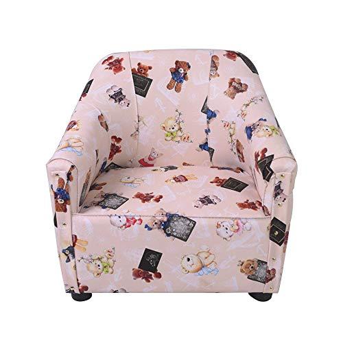 Chaise Canapé pour enfants, cadre en bois massif avec accoudoirs en tissu épaississant Fit Body Curve Design Child Leisure/Dining Chair (Couleur : G)