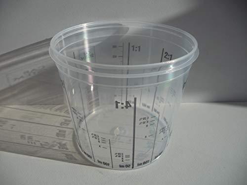 Unbekannt Mischbecher Lackmischbecher in versch. Größen mit Skala (385ml)