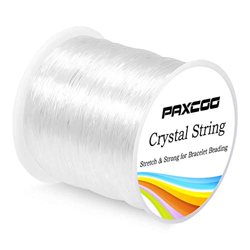 Paxcoo 0.8mm Elastic String, Stretchy Bracelet String Crystal String Bead Cord for Bracelet, Beading and Jewelry Making (120m)