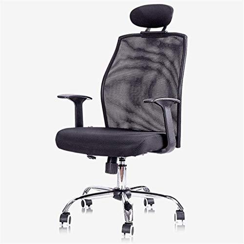 Sedia da Ufficio Sedia da ufficio Maglia Schienale Poggiatesta Scortea Desk Desk per Home Office Design ergonomico Meccanismo di inclinazione 360 gradi Poltrona ( Color : Black , Size : Free size )
