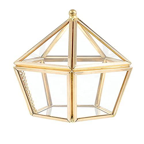 Geometrisches Terrarium aus Glas, Glas Schmuckschatullen, Geometrisches Glas Terrarium Box, Schmuckschatulle Glas Terrarium Box, für Zeremonie, Hochzeit Dekorativ, Blumentopf Anzeigen