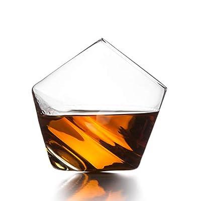 Sempli Cupa-Rocks Clear Whiskey Glasses, Set of 2 in Gift Box