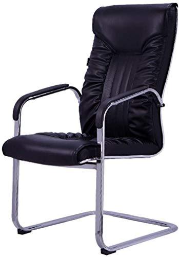 TGFVGHB Silla de oficina para ordenador, silla de tarea, silla sedentaria, comodidad no está cansada, silla de oficina, hogar, oficina, silla de ordenador, silla mahjong (color negro)