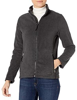 Charles River Apparel Women's Boundary Fleece Jacket, Charcoal Heather, M
