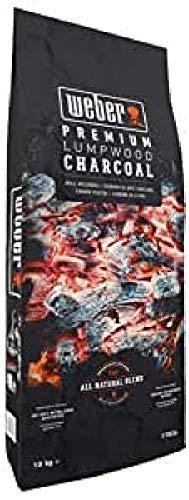 Weber Charcoal Lumpwood Holzkohle 10 kg, Schwarz