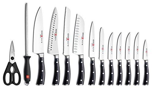 Wusthof Classic Ikon 14-piece Knife Block Set (Walnut Block)