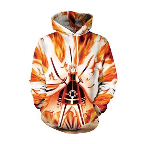ABCDE Suéter con Capucha, Suéter con Capucha con Estampado de Anime Naruto 3D, Unisex M-XXL y Prendas cómodas Superiores, Mangas largas Moda (Color : Naruto Sweatshirt 2, Size : X-Large)
