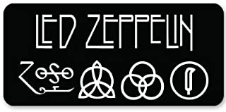 Led Zeppelin heavy metal ZOSO Vynil Car Sticker Decal - Select Size