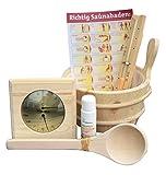 Well Solutions® 7 Tlg. Sauna Aufguss Set Zubehör Kübel Set