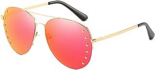 893531a8a2 Jdeepued Dama Gafas de Sol Moda Unisex Cat Eye Mirrored Lentes Planas sin  Marco para Ciclismo Pesca conducción 4 Colores Gafas de Sol de Personalidad  ...