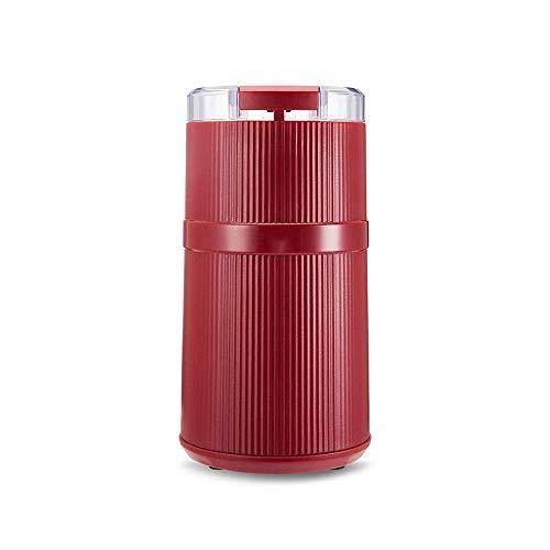 WYZQ Molinillo eléctrico Mini Molinillo de Hoja de Acero Inoxidable pequeño como Tapa de Taza Visible con Dispositivo de protección contra sobrecalentamiento Adecuado para Molinillo de Frijoles d