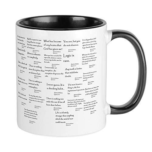 CafePress Sherlock Mugs Kaffeetasse, White/Black Inside, S