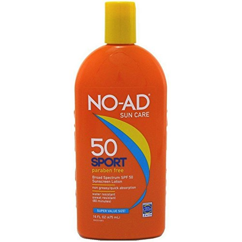 NO-AD Sport Active Sunscreen Lotion, SPF 50 16 oz by No-Ad...