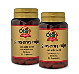 Ginseng rojo 500 mg. (ext. Seco) 90 capsulas (pack 2 unid. )