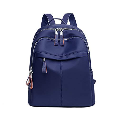 YYMMQQ Sac à Dos d'extérieur,Women Backpack Travel Casual Waterproof Women's Shoulder Bags Female Large Capacity Oxford Rucksack Black Purse,Blue
