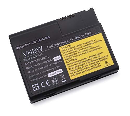 Batterie LI-ION 4400mAh 14.8V Noir Compatible pour Acer remplace BAT30N3L / BAT-30N / BT.T3404.001 / BT.A0101.001 / BT.A0101.002 / BTP-550