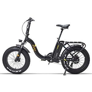 FJNS Mountainbike 48V 13Ah,klappbares elektrisches Fahrrad mit austauschbarem Akku und LCD-Display,faltbares elektrisches Fahrrad 20 Zoll 4,0,breiterer Reifen, Strand,E-Bike 25-40 km/h - 400 W