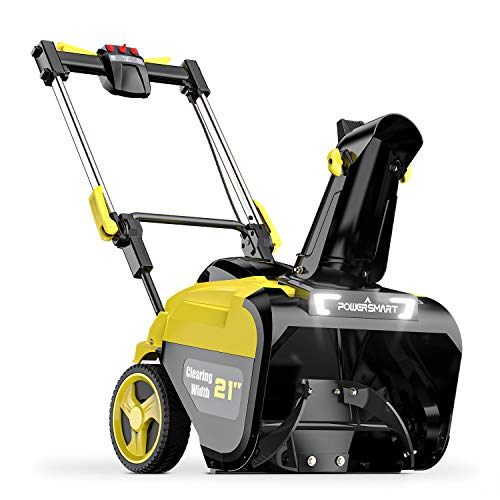 PowerSmart Snow Blower, 21-inch Cordless Snow Blower, 80V 6.0Ah Lithium-Ion Battery Powered Snow...